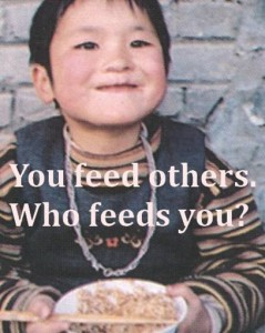 you feed others